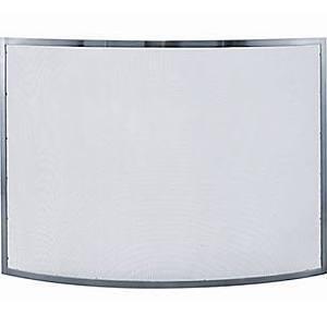 S-1613 Single Panel Curved Pewter