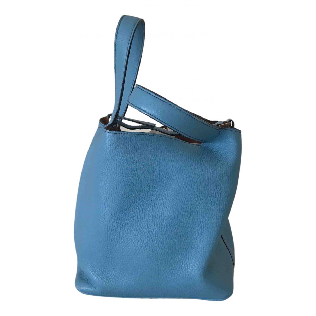 - Petite maroquinerie   pour femme en cuir - bleu