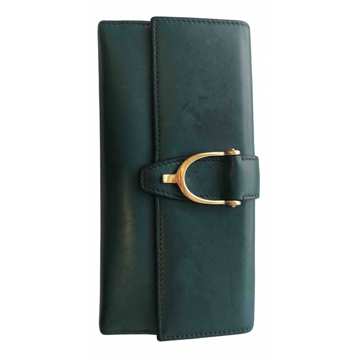 Gucci N Turquoise Leather wallet for Women N