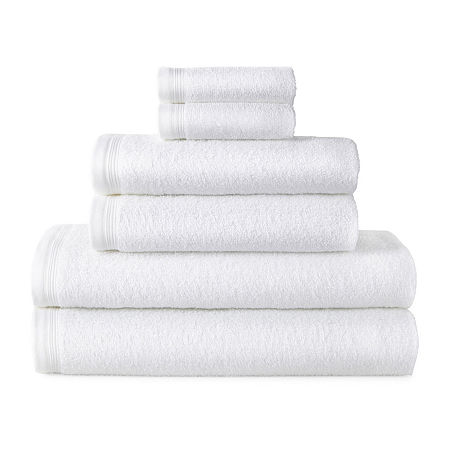 Home Expressions Solid or Stripe Bath Towel Collection, One Size , White