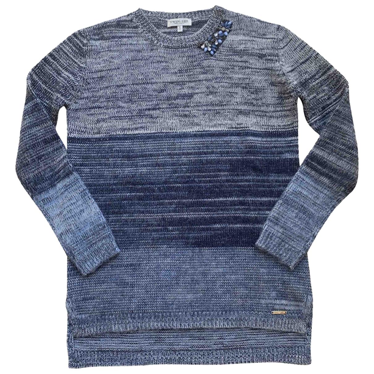 Twin Set \N Blue Wool Knitwear for Kids 16 years - M FR