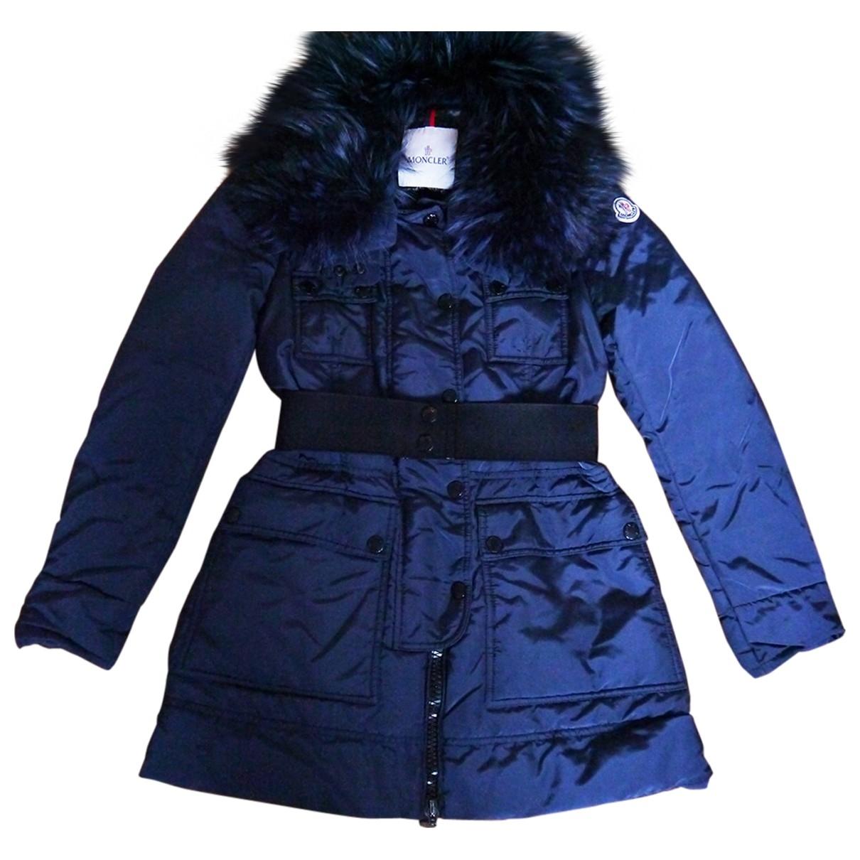 Moncler - Manteau Fur Hood pour femme - marine