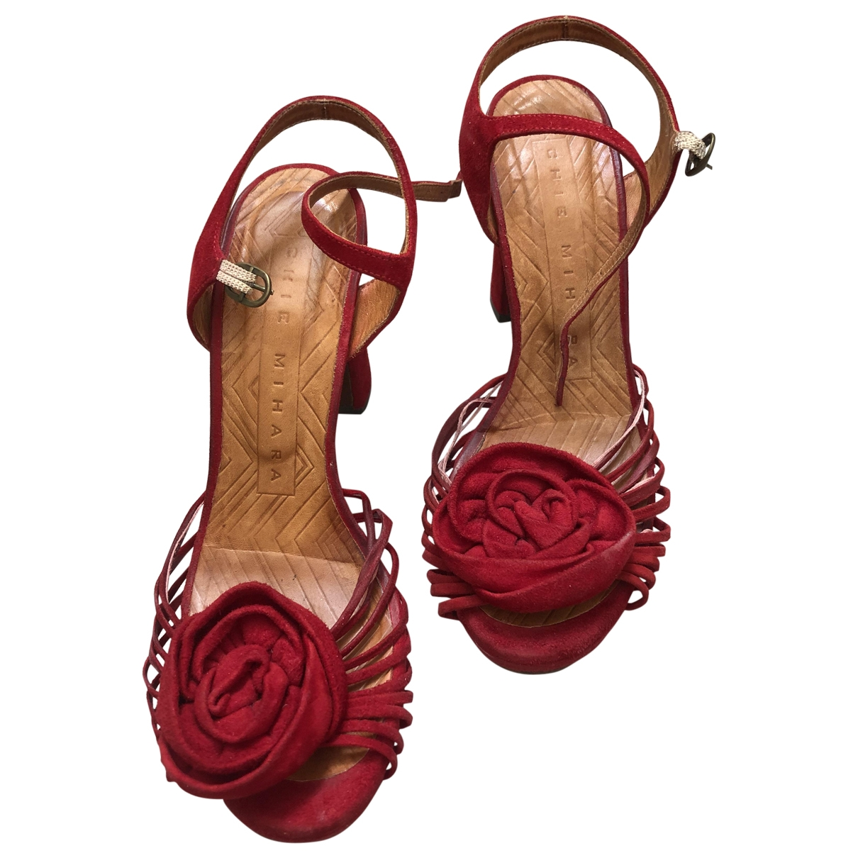 Chie Mihara \N Red Leather Sandals for Women 37 EU