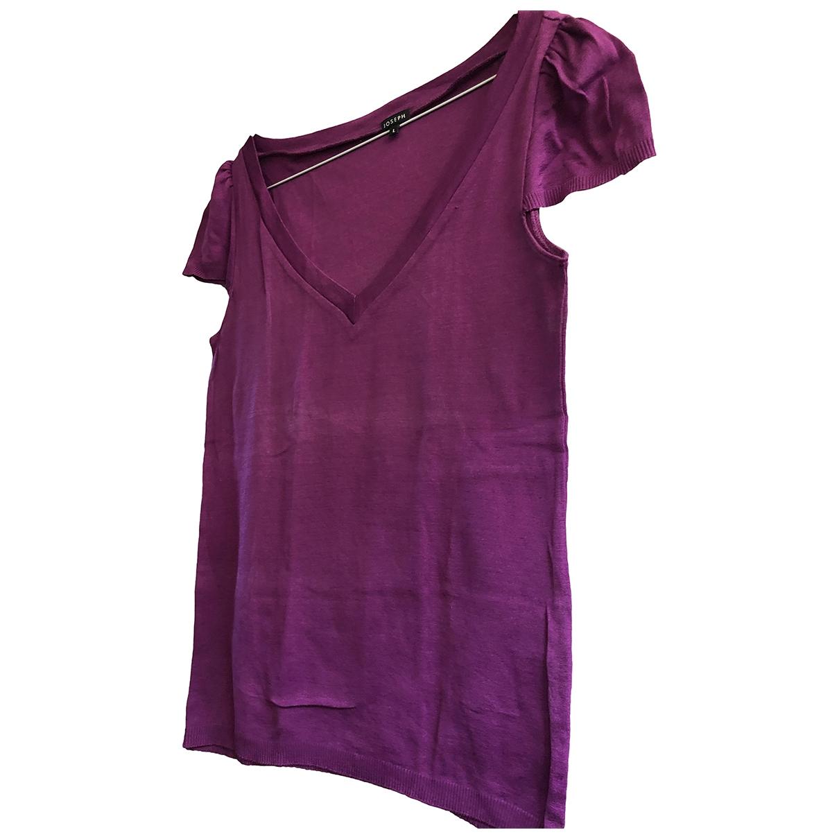 Joseph - Pull   pour femme en coton - rose