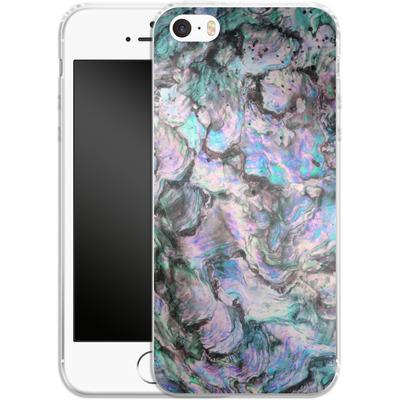 Apple iPhone 5s Silikon Handyhuelle - Mother of Pearl von Emanuela Carratoni