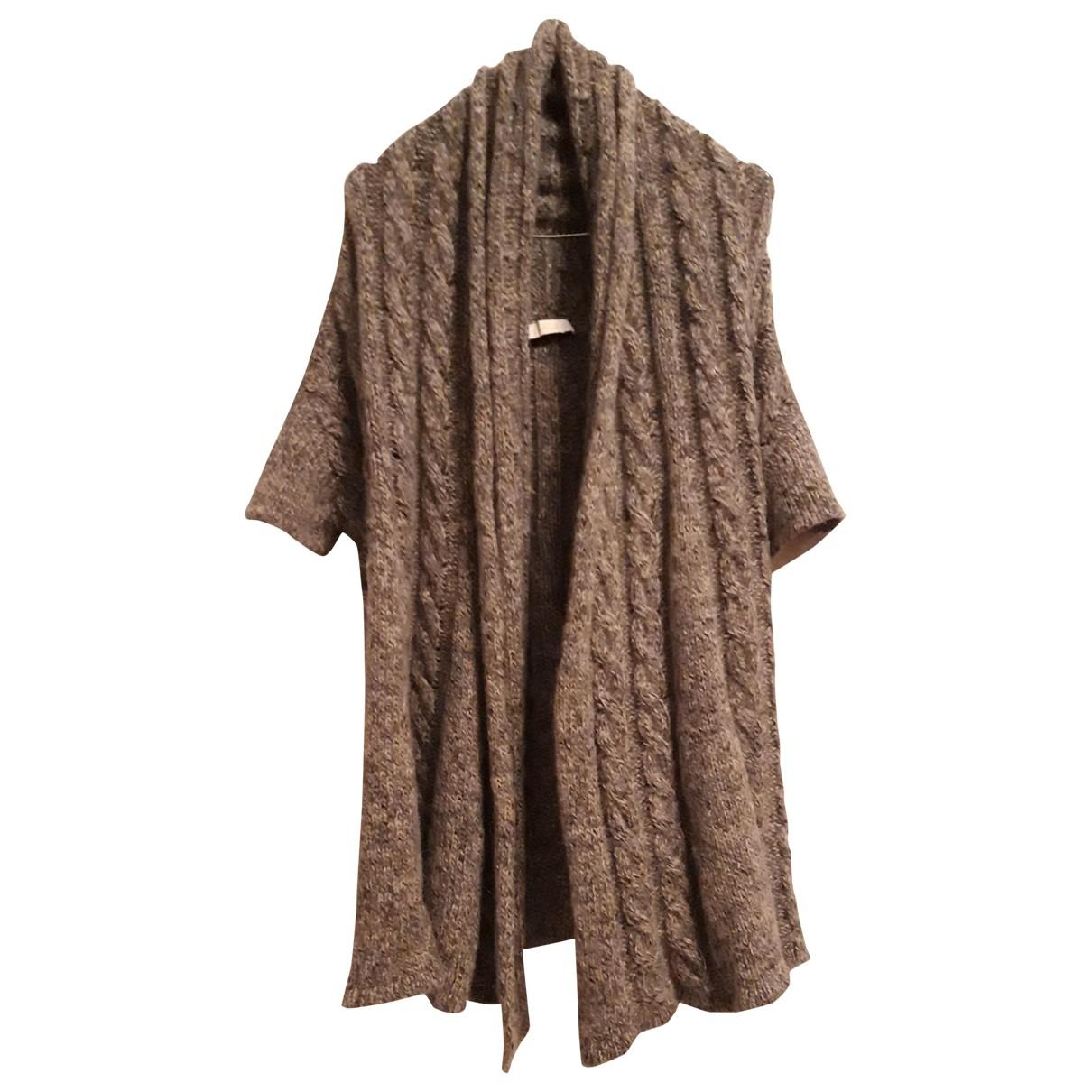- Pull   pour femme en laine - gris