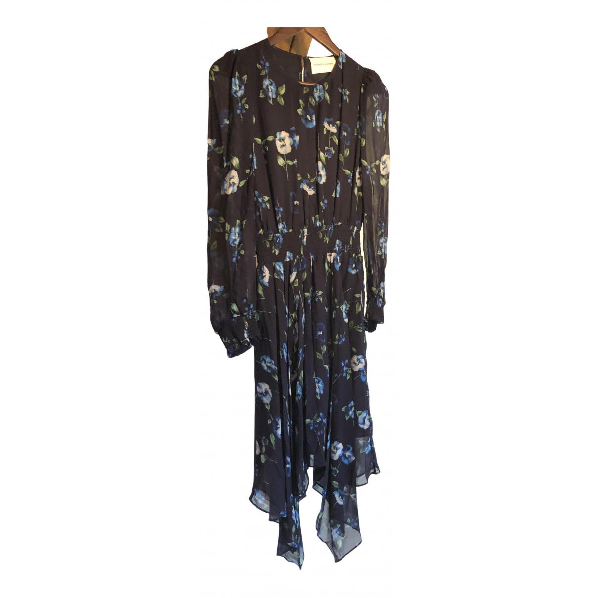 The Kooples Spring Summer 2020 Kleid in  Blau Viskose