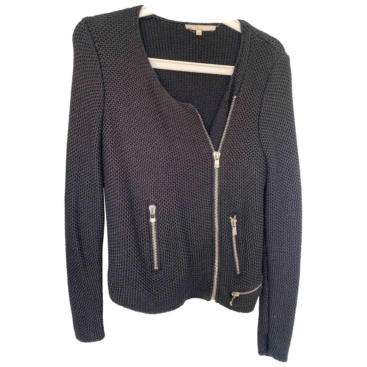 Maje \N Black Cotton jacket for Women 2 0-5