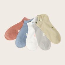 Sockchen mit Blumen Muster 5 Paare