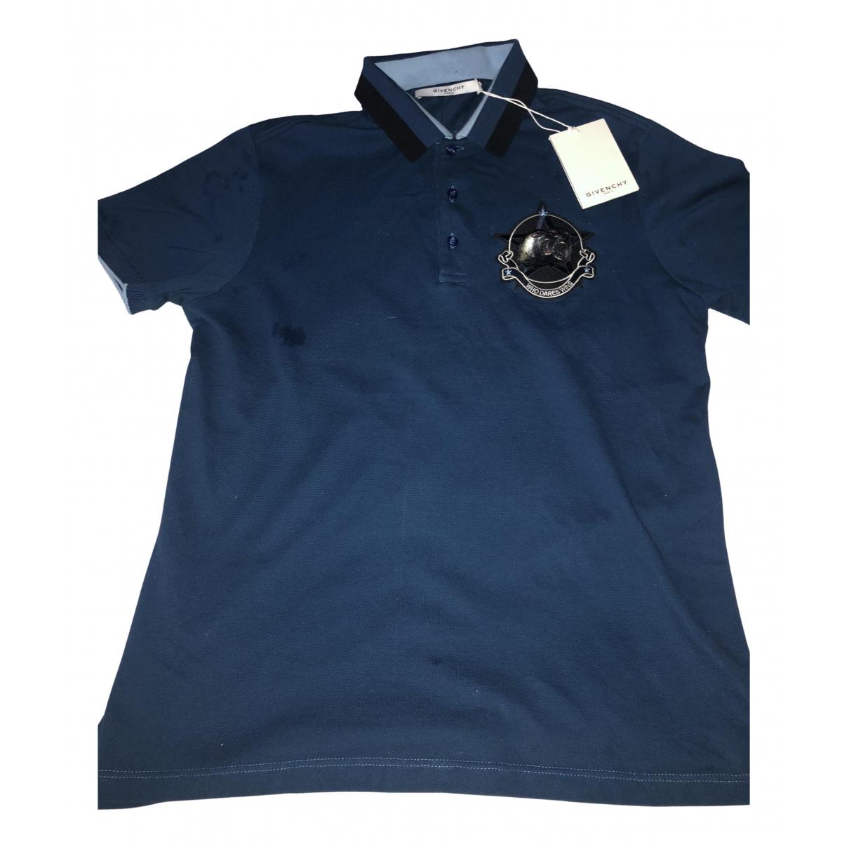Givenchy - Polos   pour homme en coton - bleu
