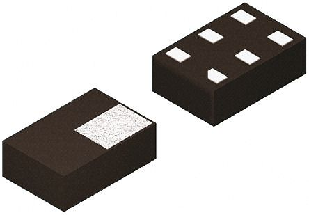 Nexperia PRTR5V0U2F,115, Dual-Element Uni-Directional ESD Protection Array, 6-Pin SOT-886 (20)