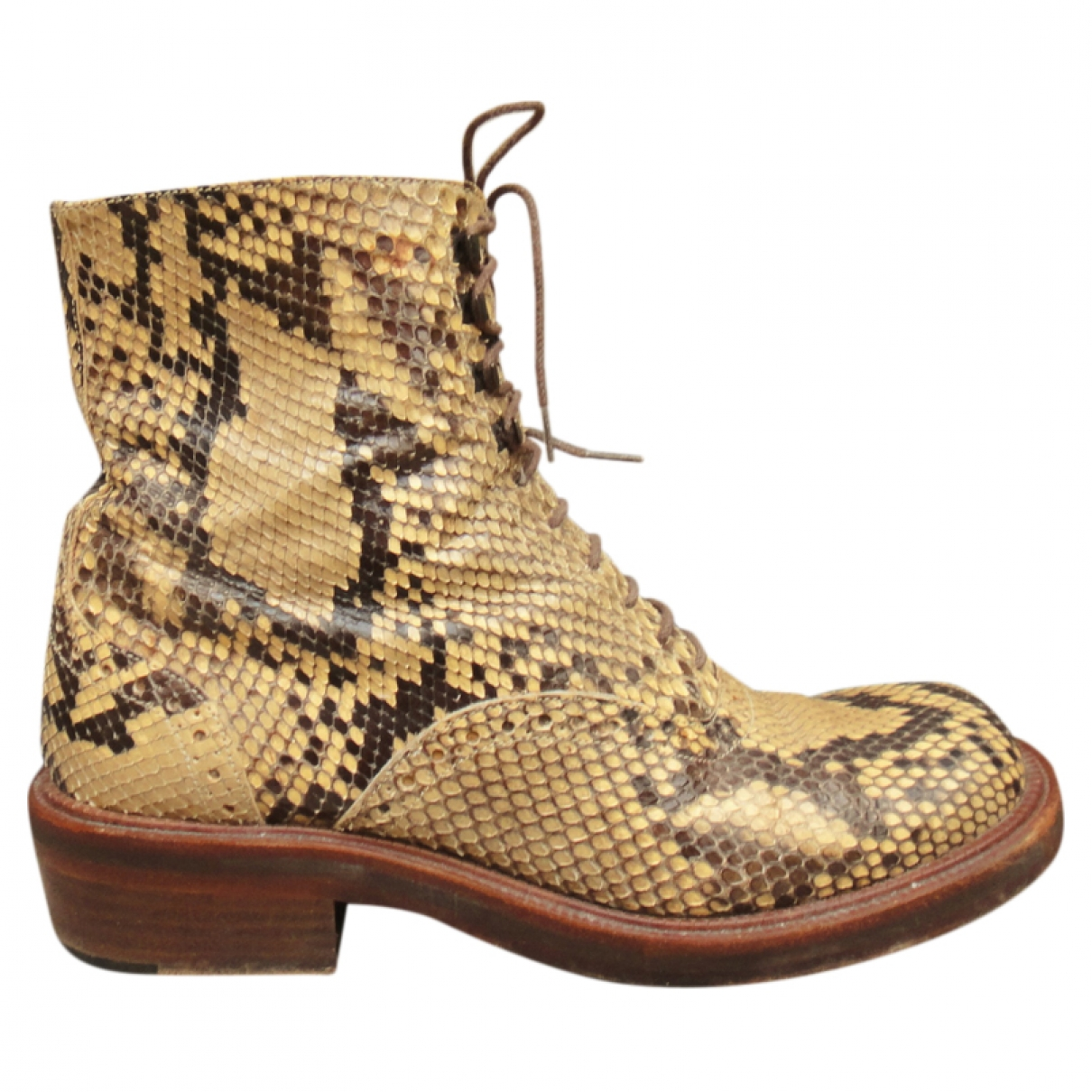 Sartore \N Beige Python Ankle boots for Women 38 EU