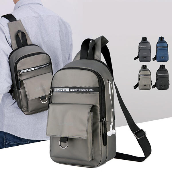 Men Waterproof Oxford Chest Bag Multi-function Bag