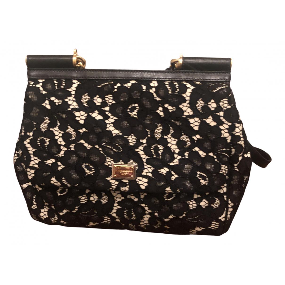 Dolce & Gabbana Sicily Black Cloth handbag for Women N