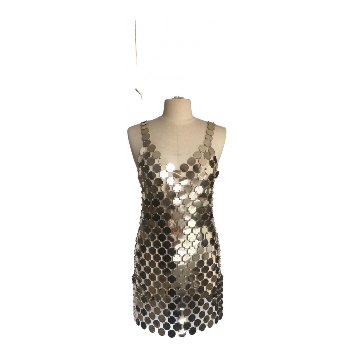 Paco Rabanne \N Kleid in  Gold Mit Pailletten