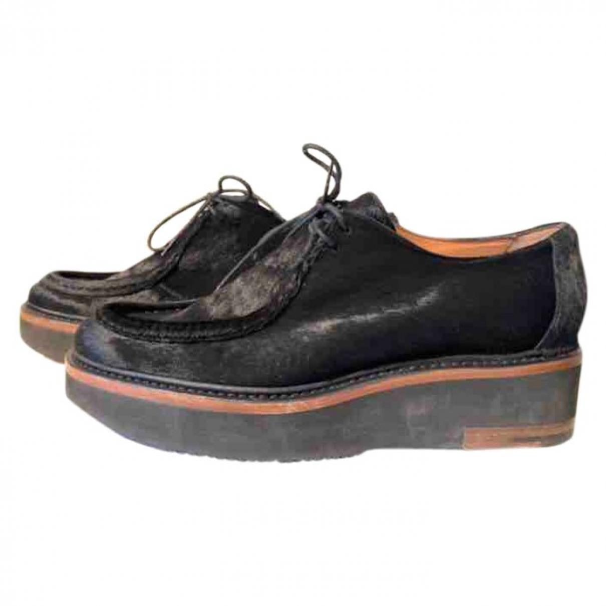 Dries Van Noten - Derbies   pour femme en cuir - noir