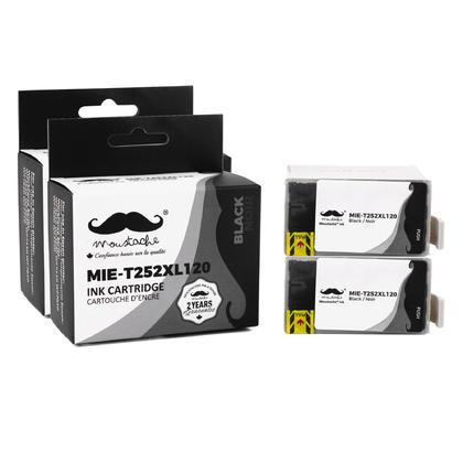 Compatible Epson T252XL120 - 252XL cartouche d'encre noire - Moustache - 2/paquet