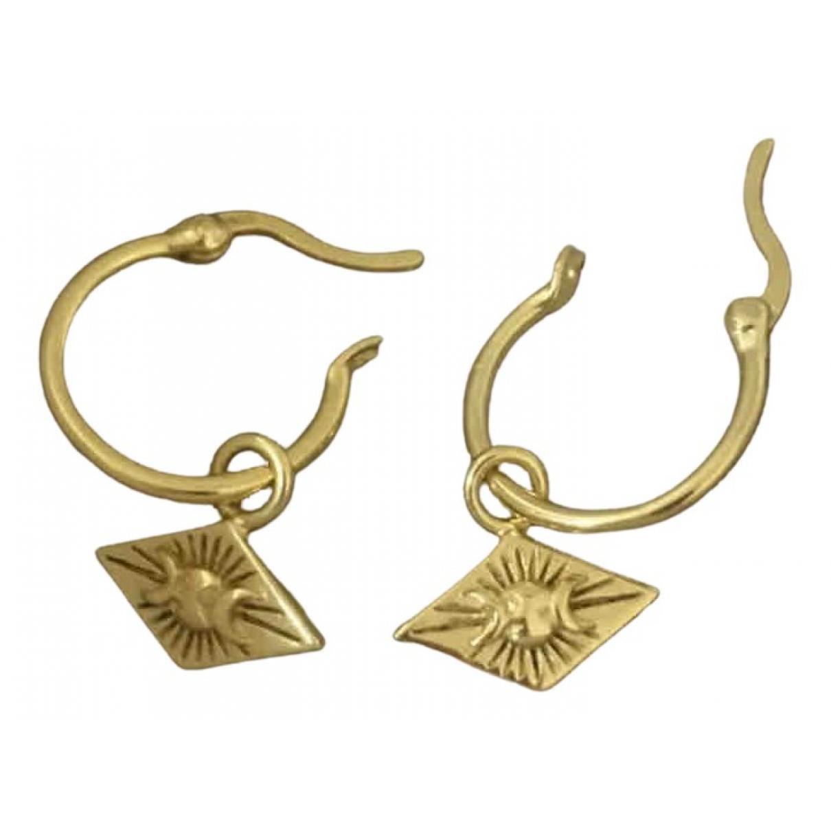 Daisy \N OhrRing in  Gold Vergoldet