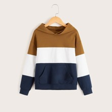 Boys Pocket Front Colorblock Hoodie