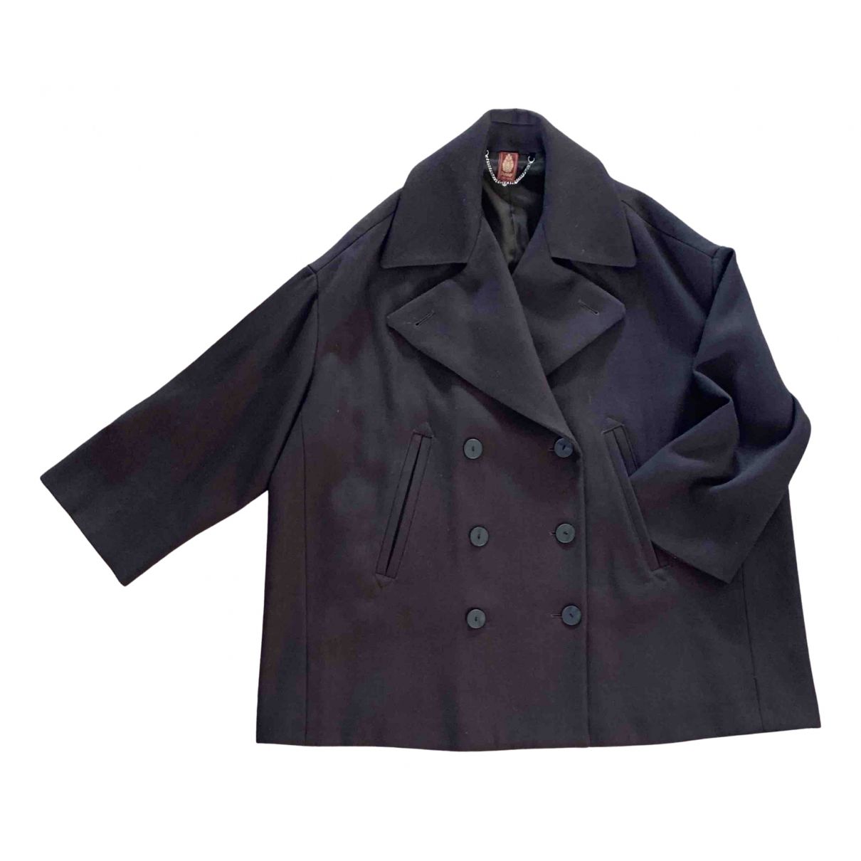 Dondup - Manteau   pour femme en laine - marron