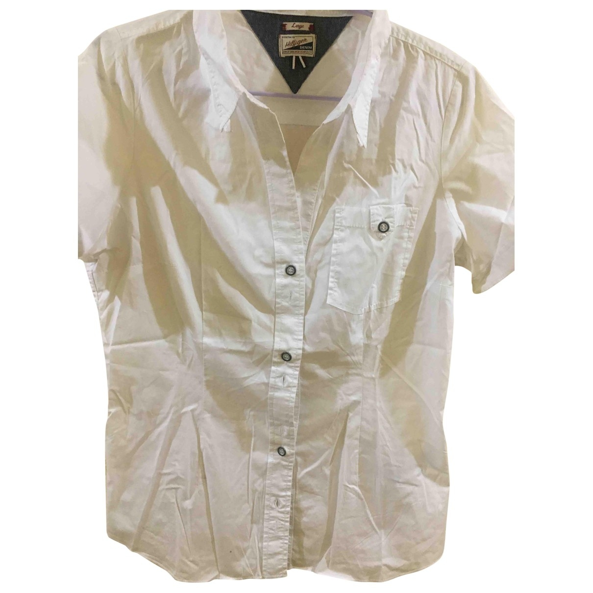 Tommy Hilfiger \N White Cotton  top for Women L International