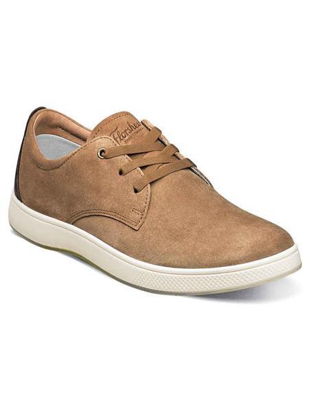 Mens Lace Up Tan ~ Cognac Shoe Suede ~ Nubuck