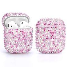 Caja de Airpods de decoracion de diamantes de imitacion de 1 pieza