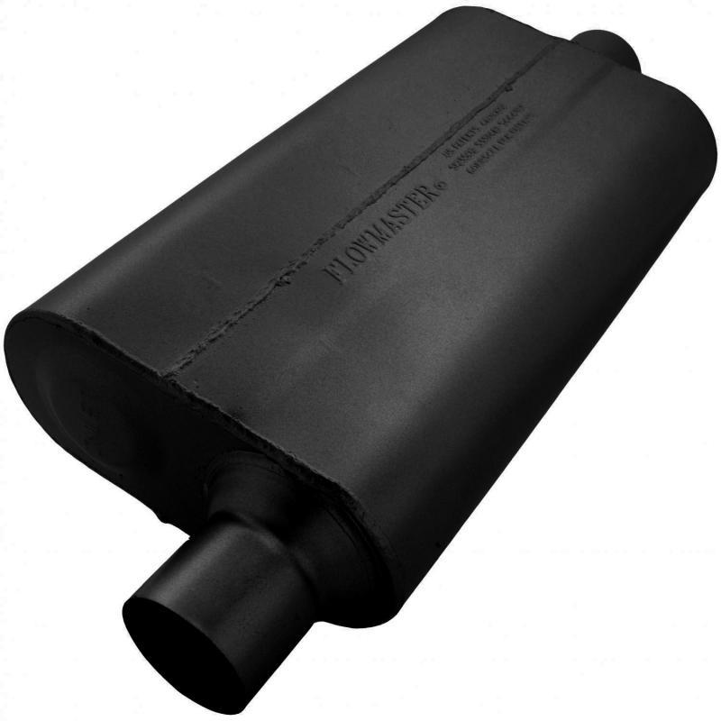 Flowmaster 942551 50 Delta Flow Muffler - 2.50 Offset In / 2.50 Center Out - Moderate Sound