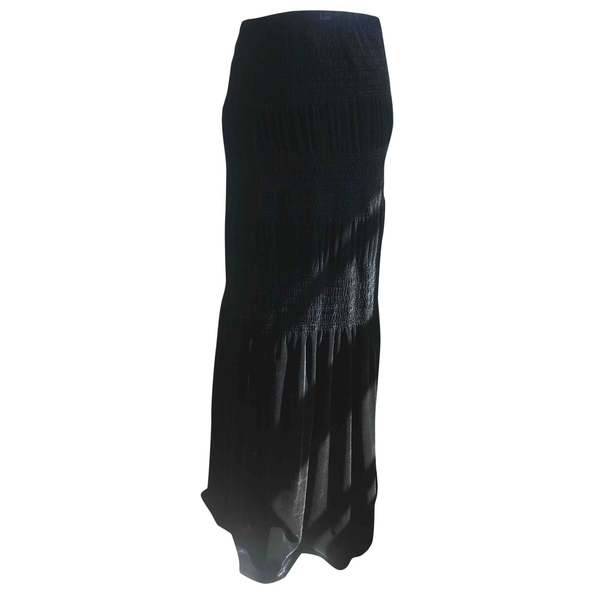 Non Signé / Unsigned \N Black Velvet skirt for Women M International