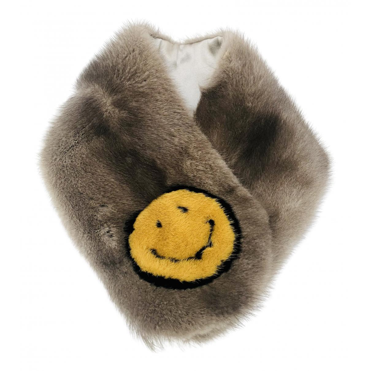 Anya Hindmarch N Brown Mink scarf for Women N