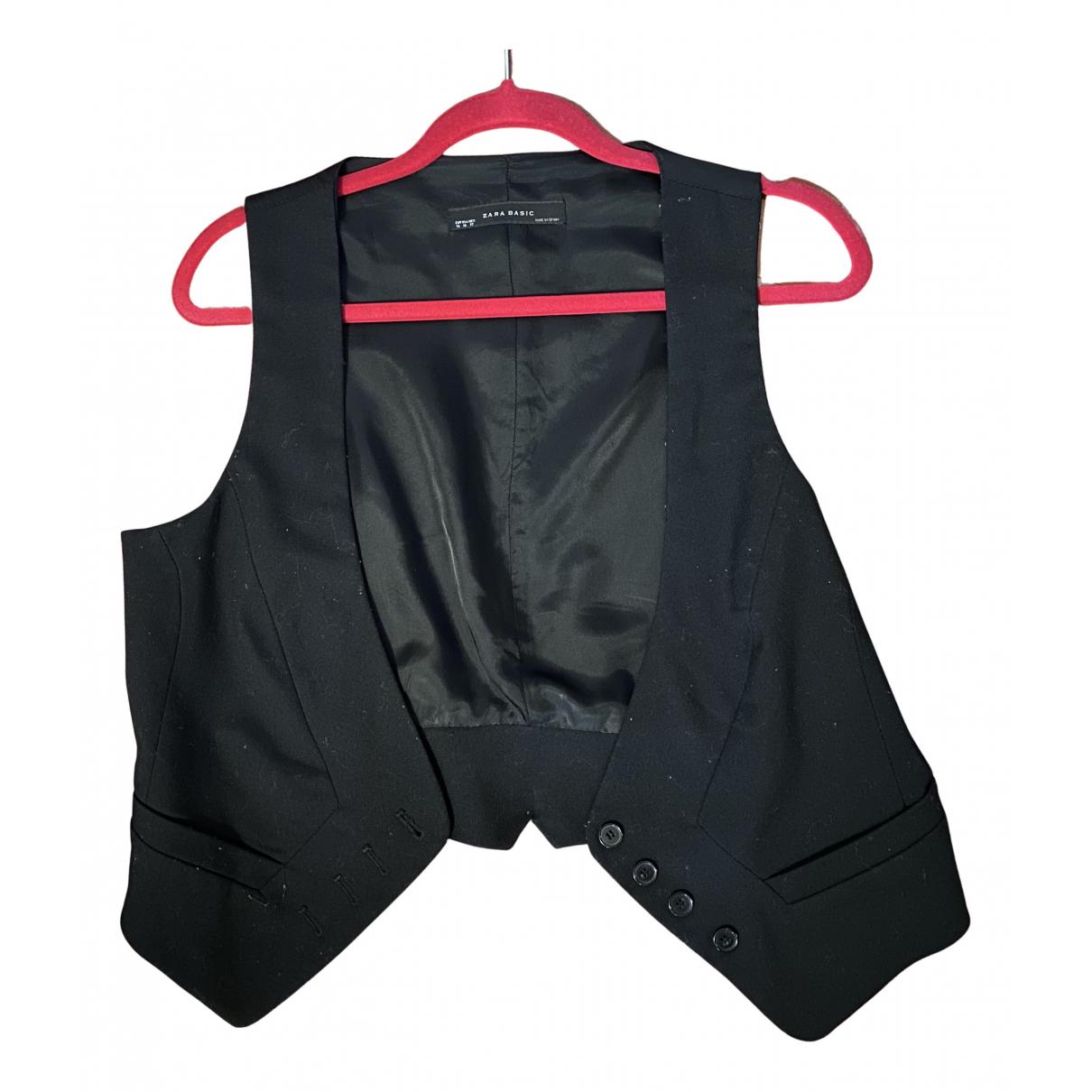 Zara \N Pullover in  Schwarz Synthetik
