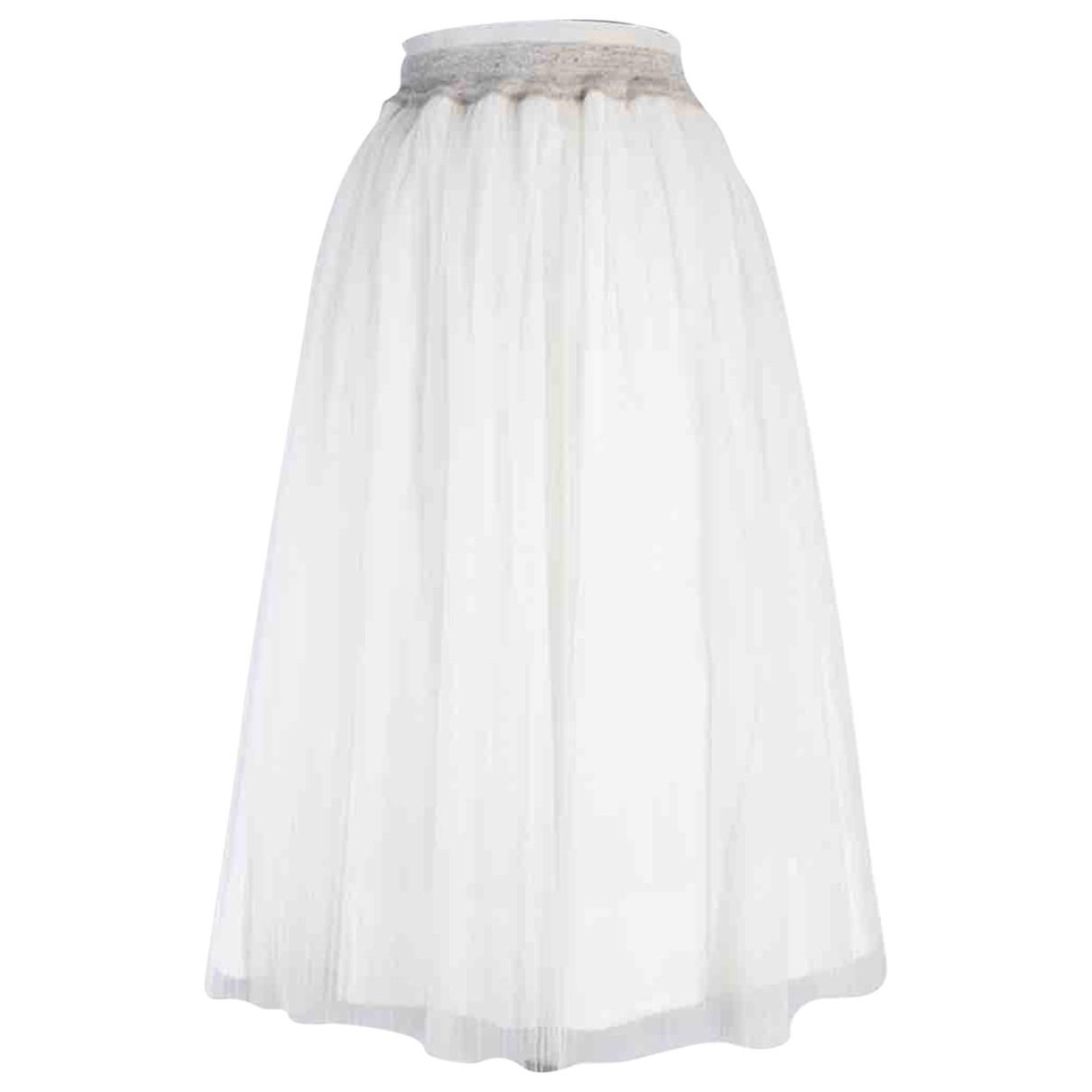 Brunello Cucinelli - Jupe   pour femme en coton - blanc