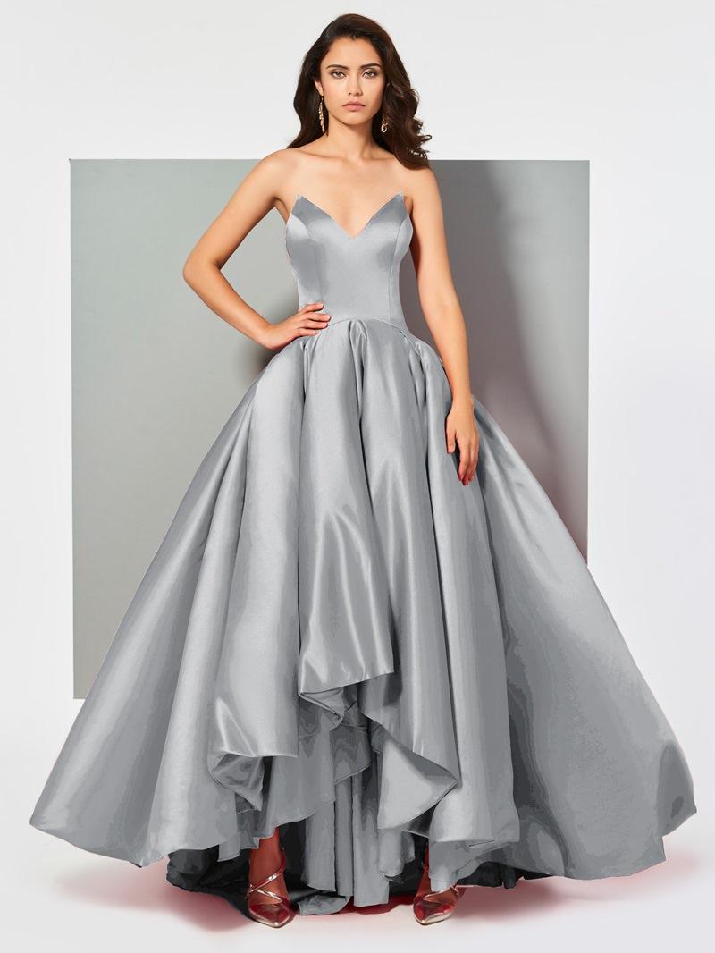 Ericdress V Neck Ball Gown Red Evening Dress