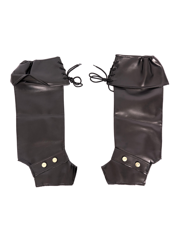 Kostuemzubehor Stiefelstulpen Marquis schwarz
