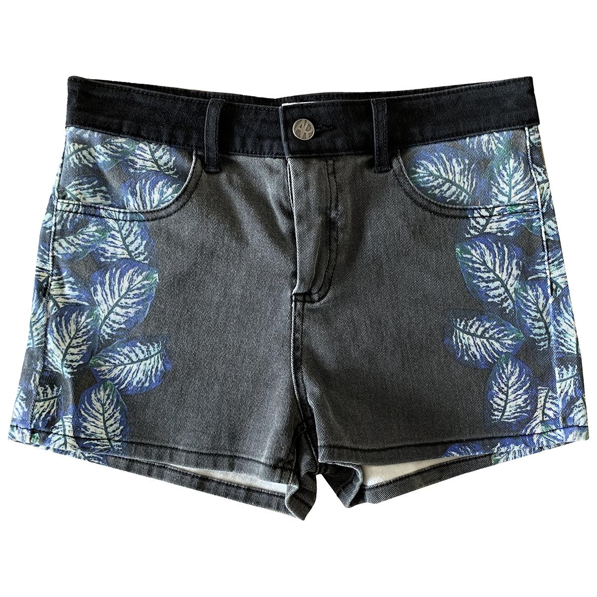 American Retro \N Shorts in  Schwarz Baumwolle - Elasthan