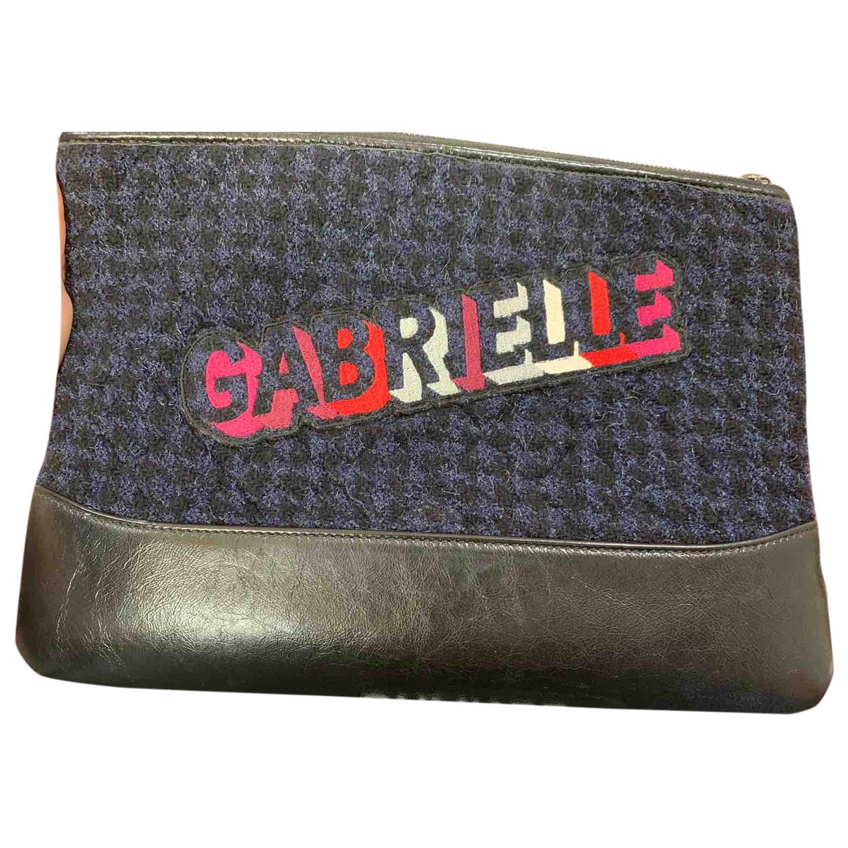 Chanel Gabrielle Blue Wool Clutch bag for Women \N