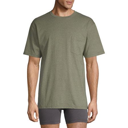 Stafford Mens Crew Neck Short Sleeve T-Shirt, X-large X-tall , Green