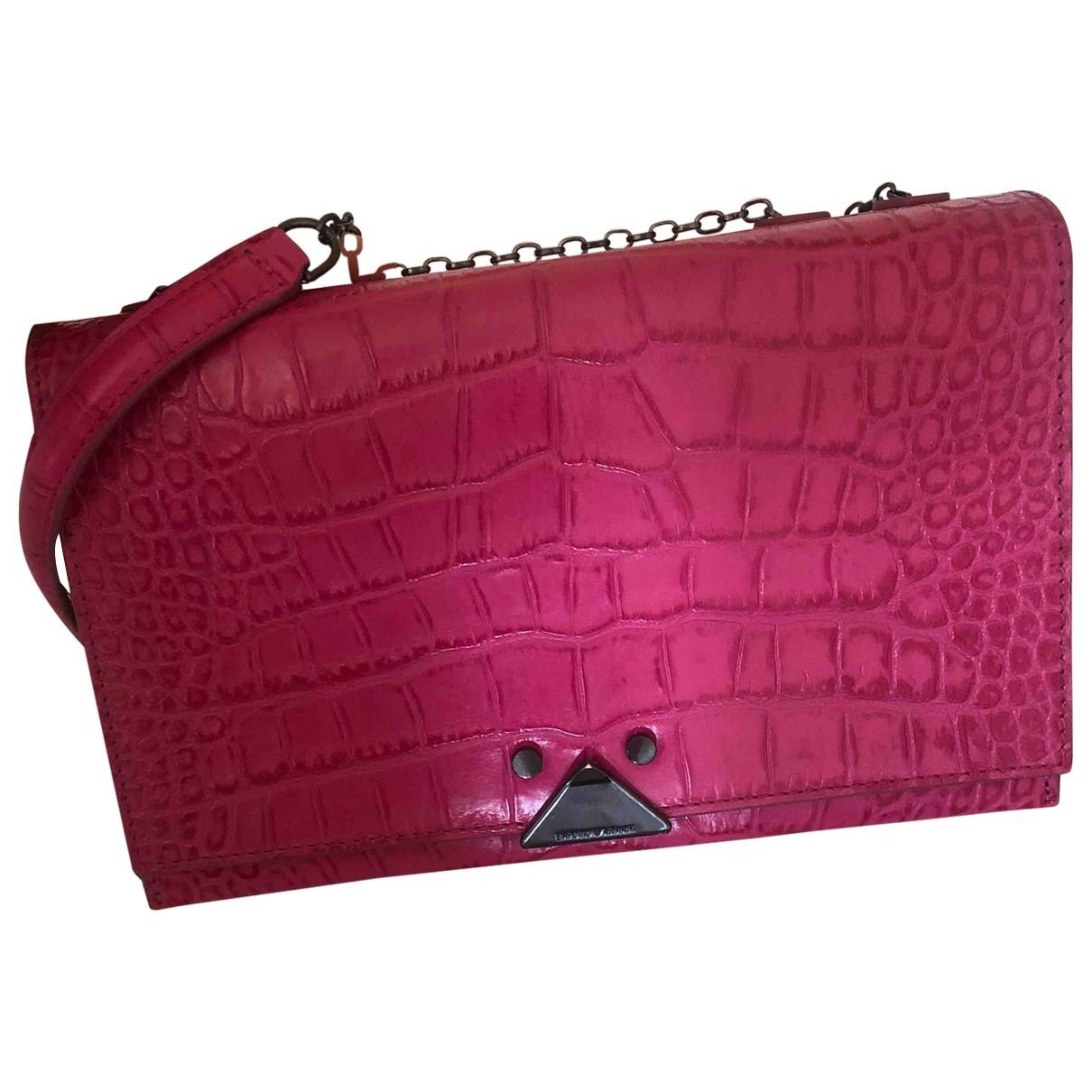 Giorgio Armani \N Pink Leather Clutch bag for Women \N