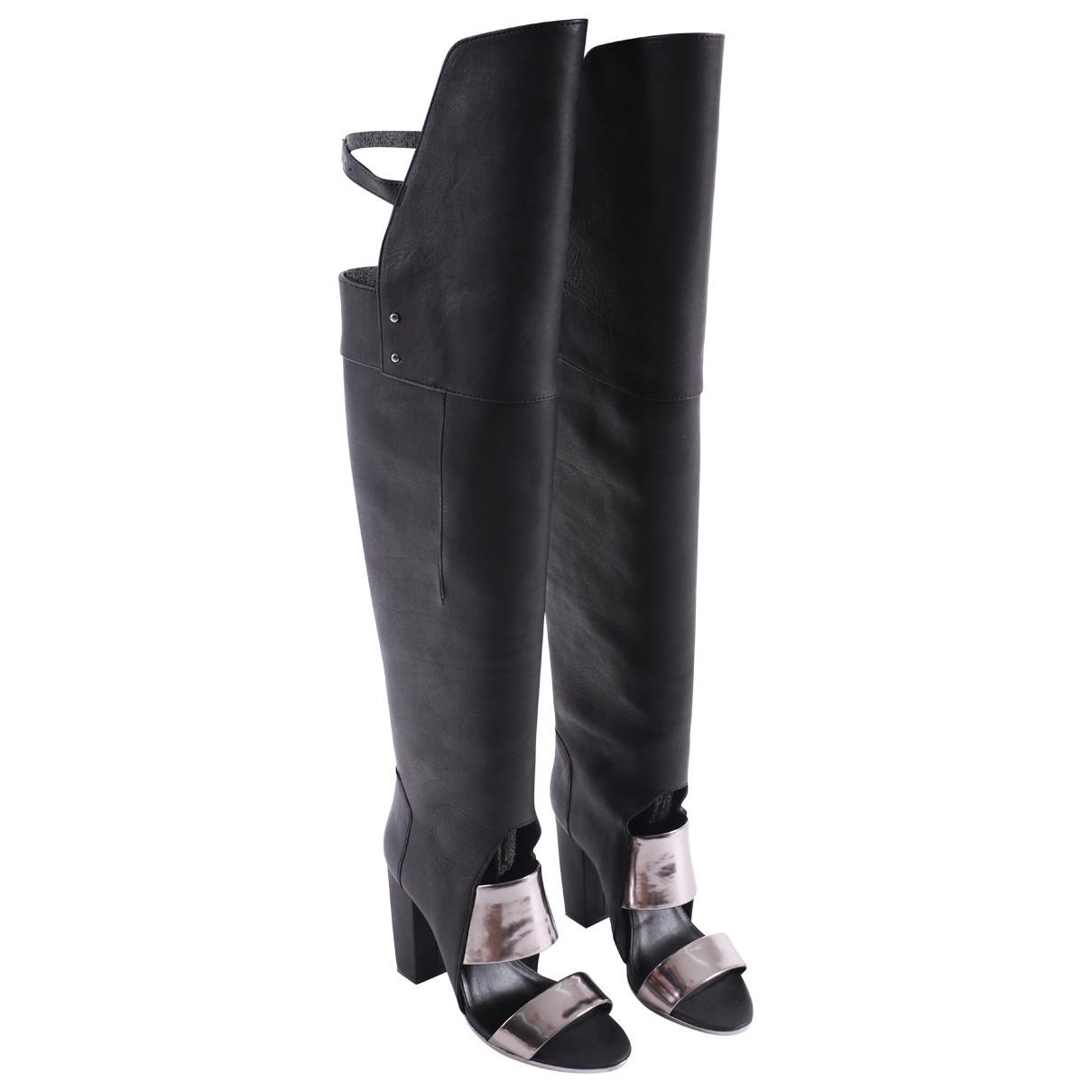 3.1 Phillip Lim \N Stiefel in  Schwarz Leder