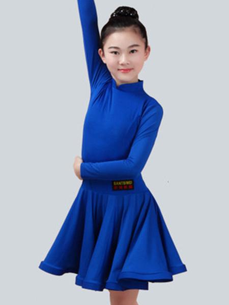 Milanoo Dance Costumes Kids Latin Dancer Dresses Long Sleeve Little Girls Peachpuff Ballroom Dancing Wears Outfit Halloween