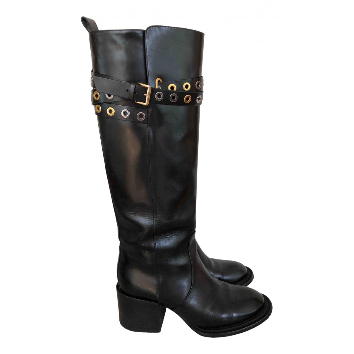 Blumarine \N Stiefel in  Schwarz Leder
