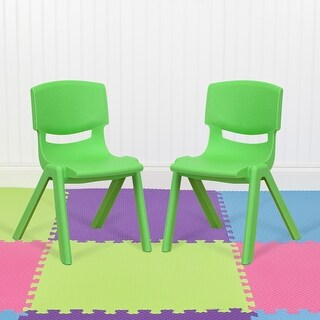 2 Pack Plastic Stackable School Chair with 12