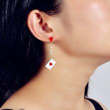 Heart Decor Drop Earrings