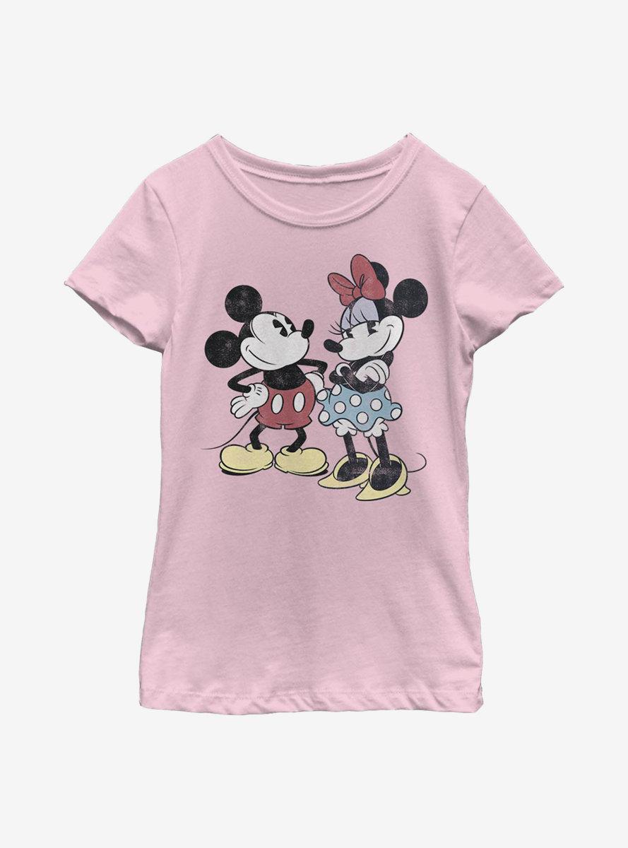 Disney Mickey Mouse Minnie Retro Youth Girls T-Shirt