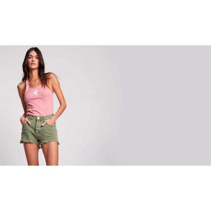 SUPER KHAKI BONITA HIGH WAIST DENIM SHORT