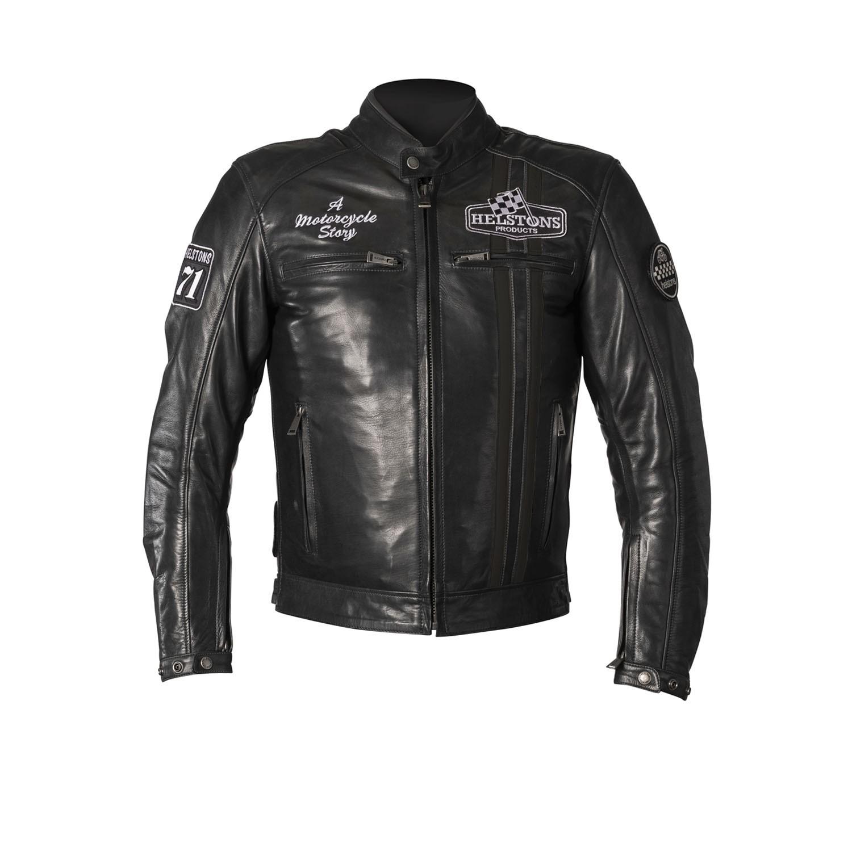 Helstons Indy Rag Veste Moto En Cuir Noir Noir M