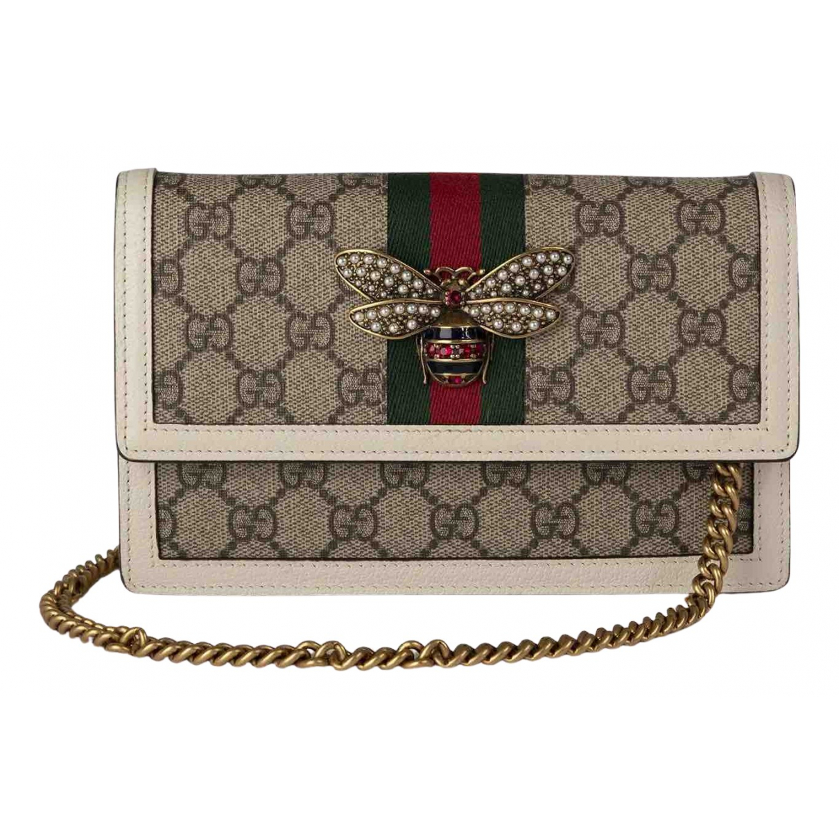 Gucci Queen Margaret Handtasche in  Beige Leinen