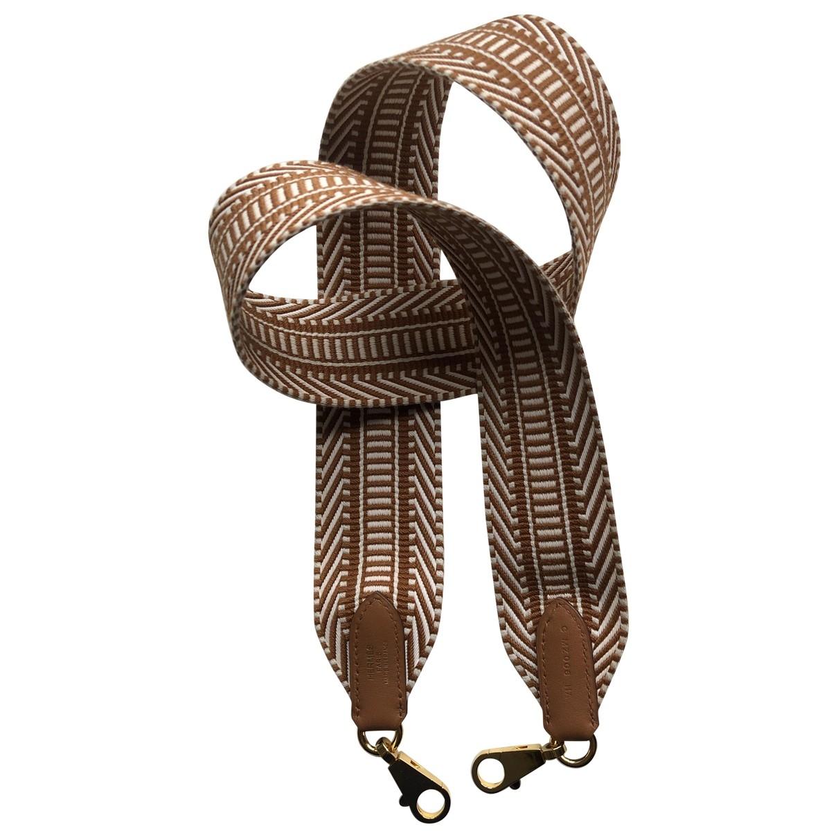 Hermes - Petite maroquinerie   pour femme en toile - marron