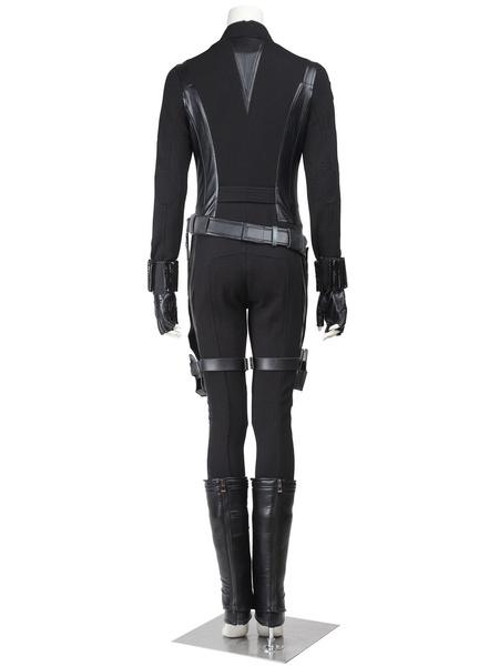 Milanoo Marvel Comics Marvel Movie Captain America 2 Black Widow Women Cosplay Set