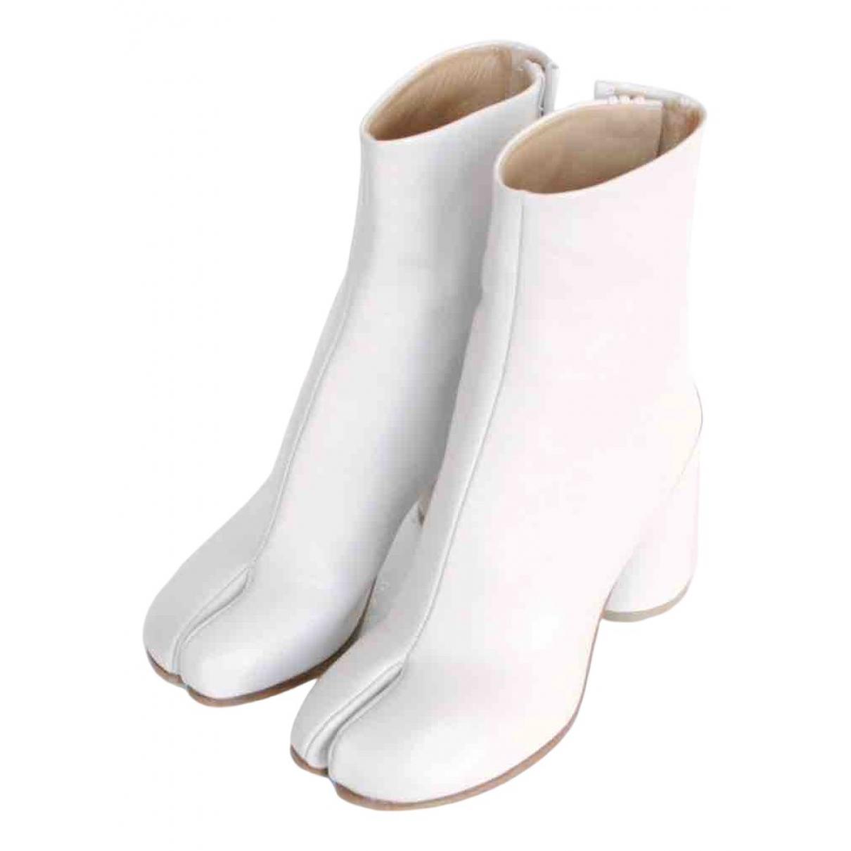 Maison Martin Margiela Tabi White Leather Ankle boots for Women 37 EU